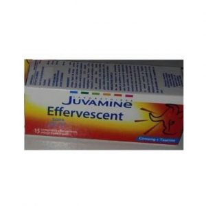 JUVAMINE - Juvamine ginseng + taurine - 15 comprimés effervescents