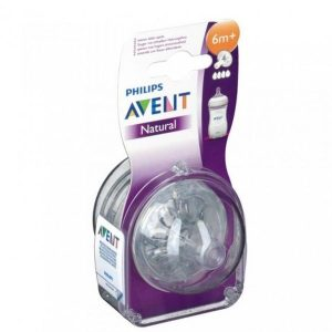 AVENT- 2 NATURAL TETINES 6M+ _4T