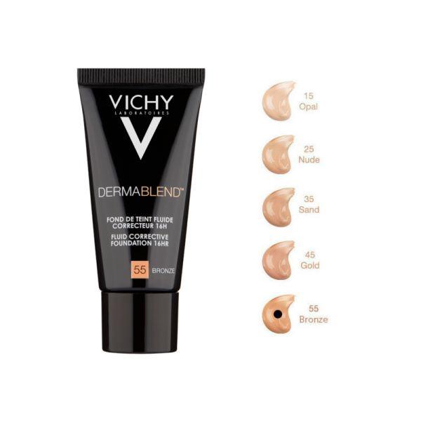 Vichy - Dermablend Fond de Teint Correcteur Fluide 55 Bronze 30ml