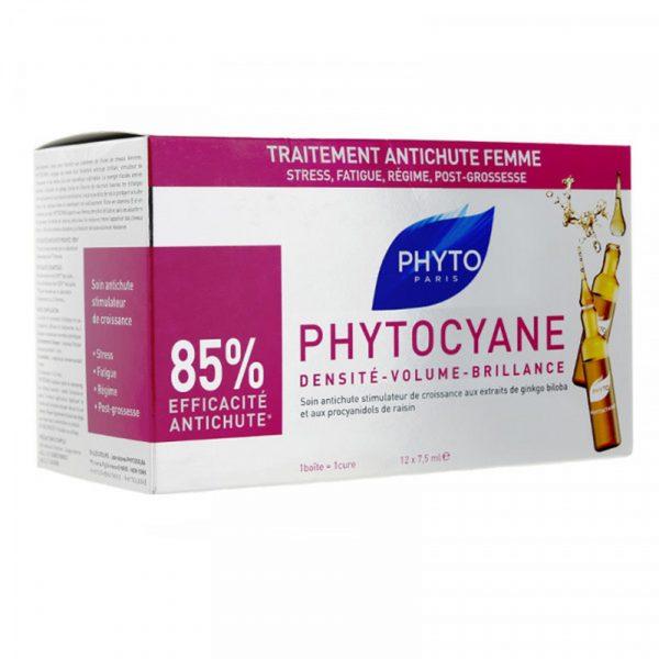 Phyto Phytocyane traitement antichute femme 12 ampoules